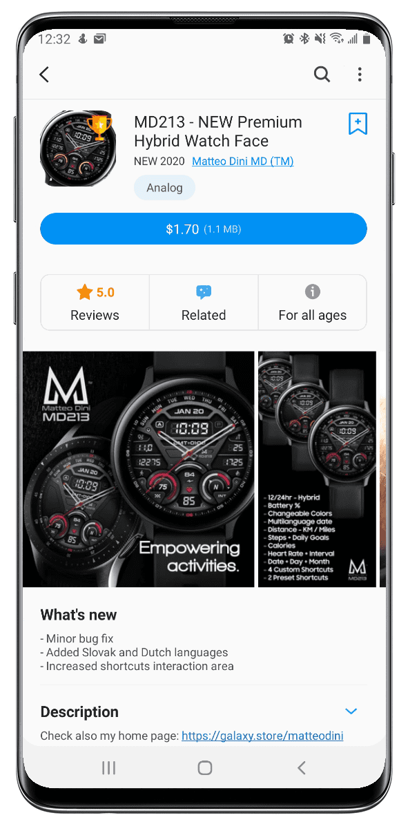 Galaxy Watch app in the U.S. Galaxy Store