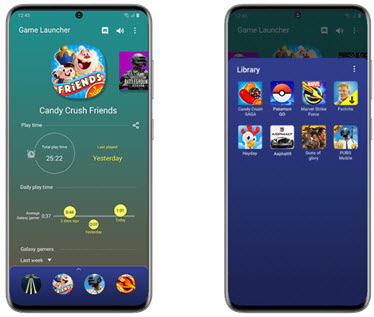 Game Launcher provides links to trending and popular games and exclusive offers for Galaxy Store users