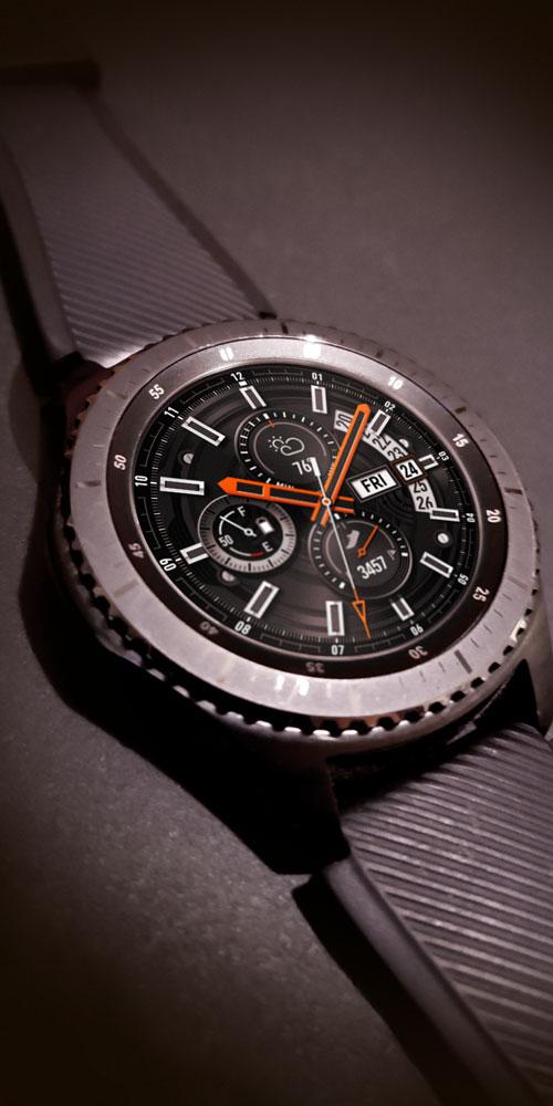 Gear S3 <br>Black Texture