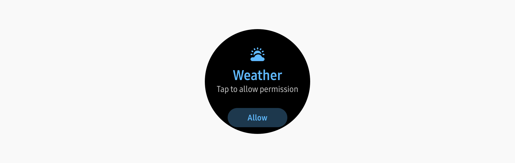 User can tap to move to Permission pop-up