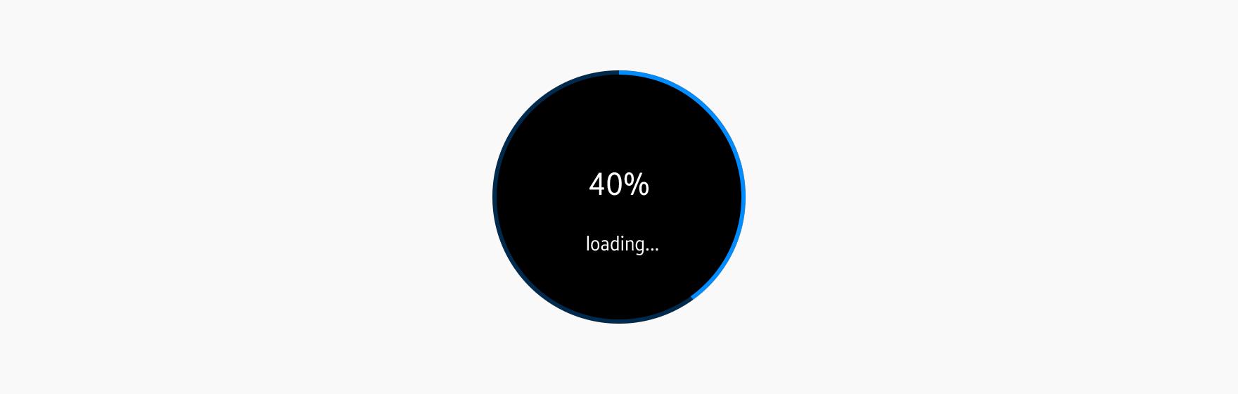 A full progress indicator shows progress around the edge of the screen.