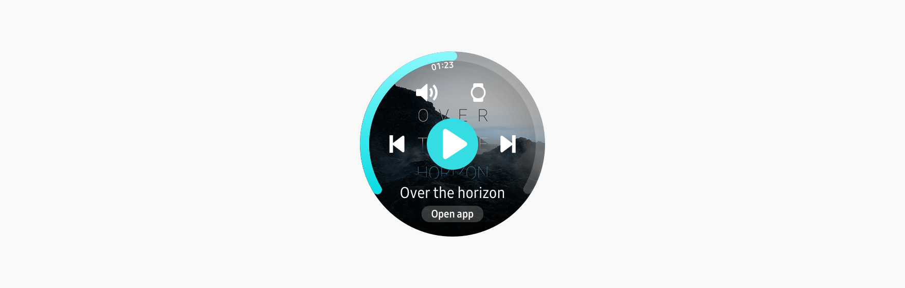 The assist panel appears when the indicator is swiped up to the top of the screen.