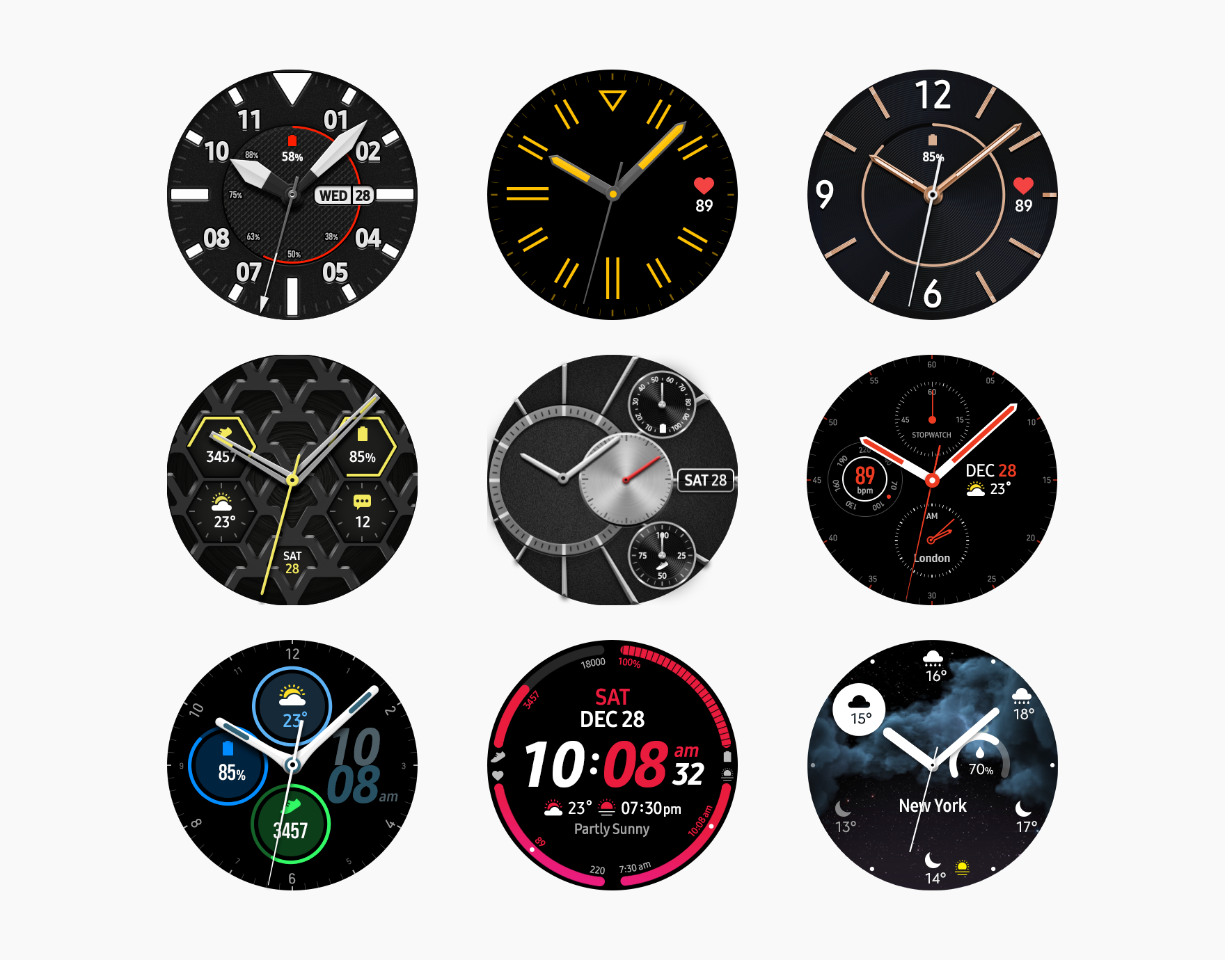 The watch face not only tells time but also provides useful functions and works as a fashion accessory.