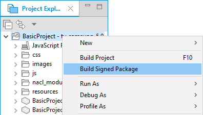 Figure 3. Build Signed Package
