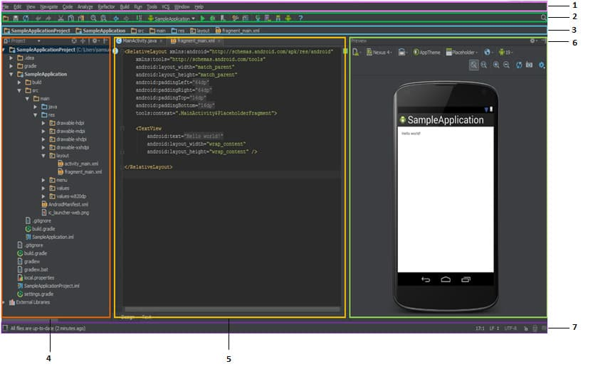 [Image 4] Android Studio user interface components