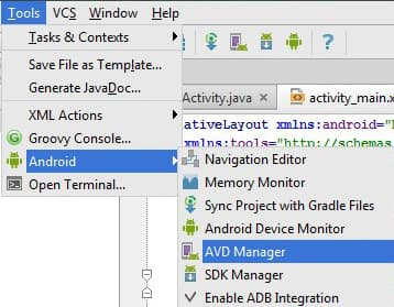 Figure 1: Android Studio Window