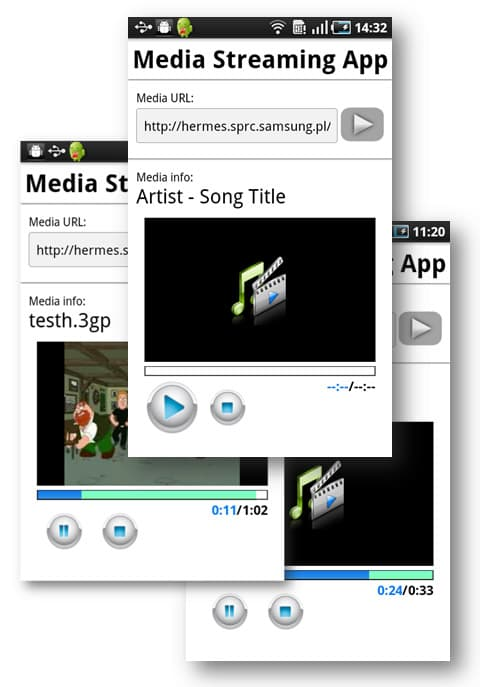 Media Streaming App on Android