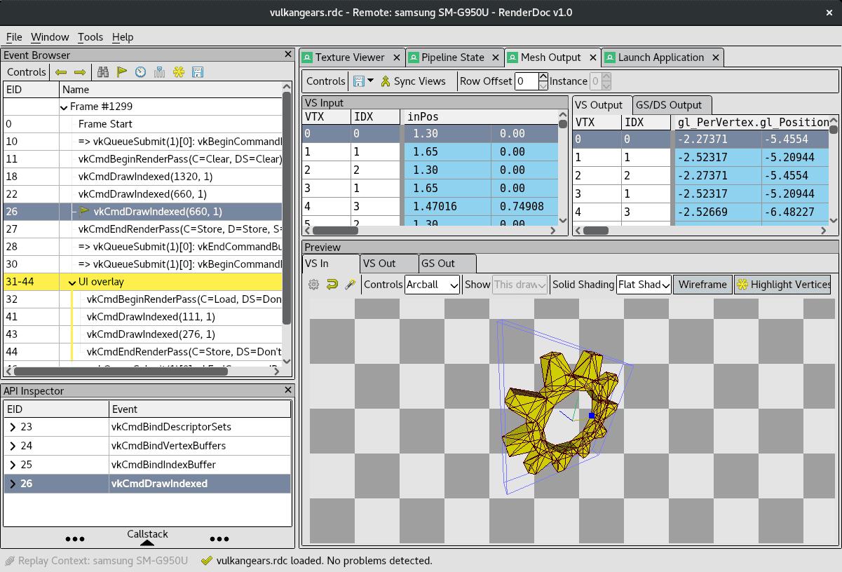 RenderDoc Tool   SAMSUNG Developers