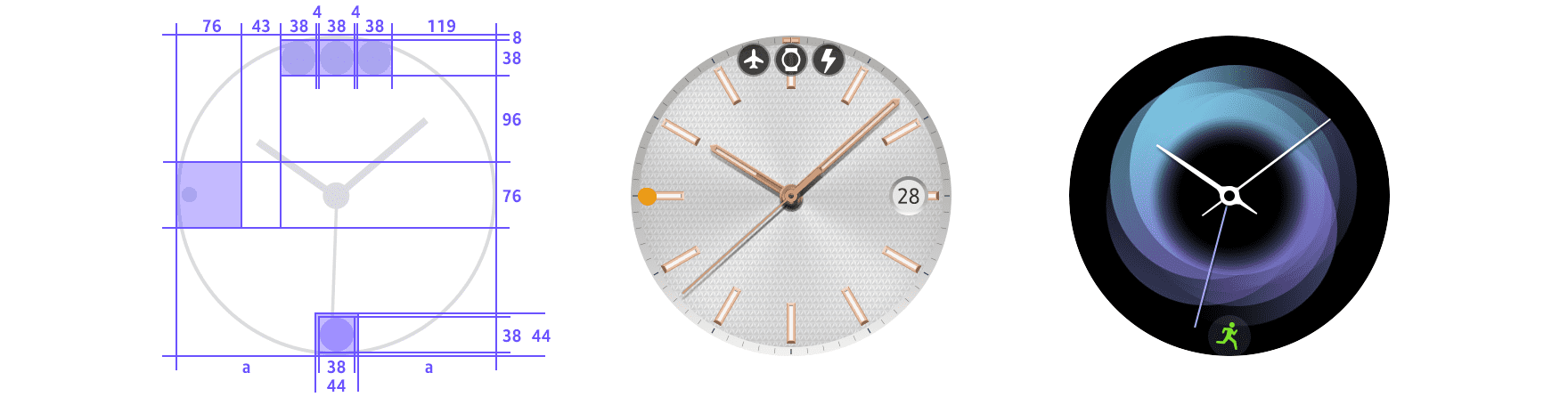 Choose from 5 Sizes! NEW Gold Clock Dial Dots