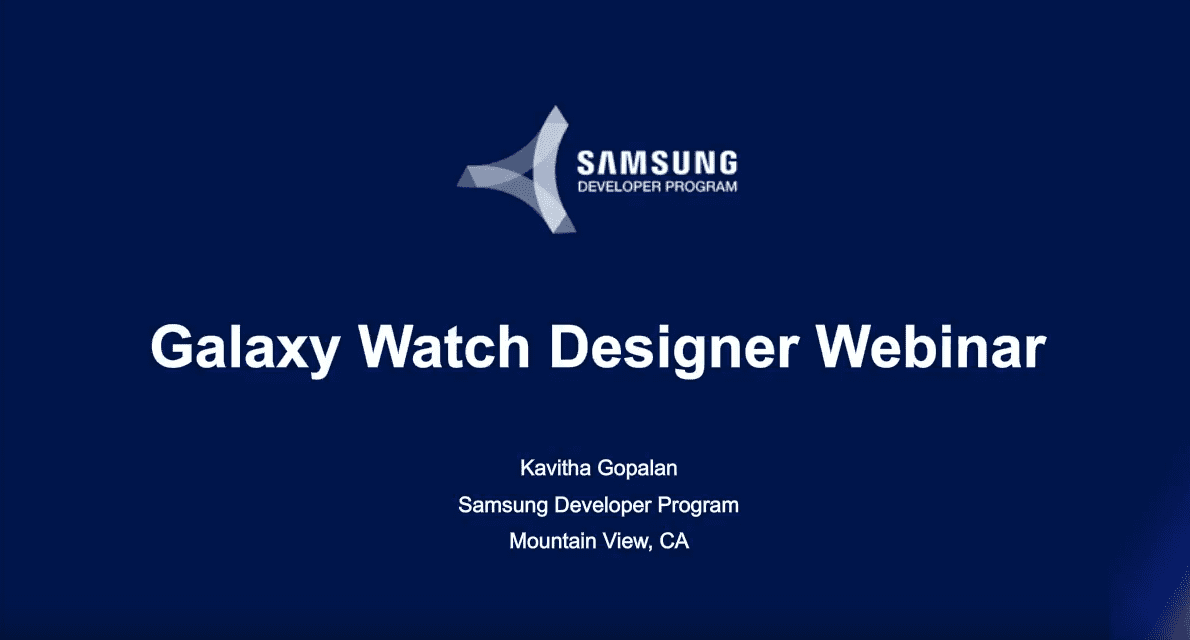 Galaxy Watch Designer Tool