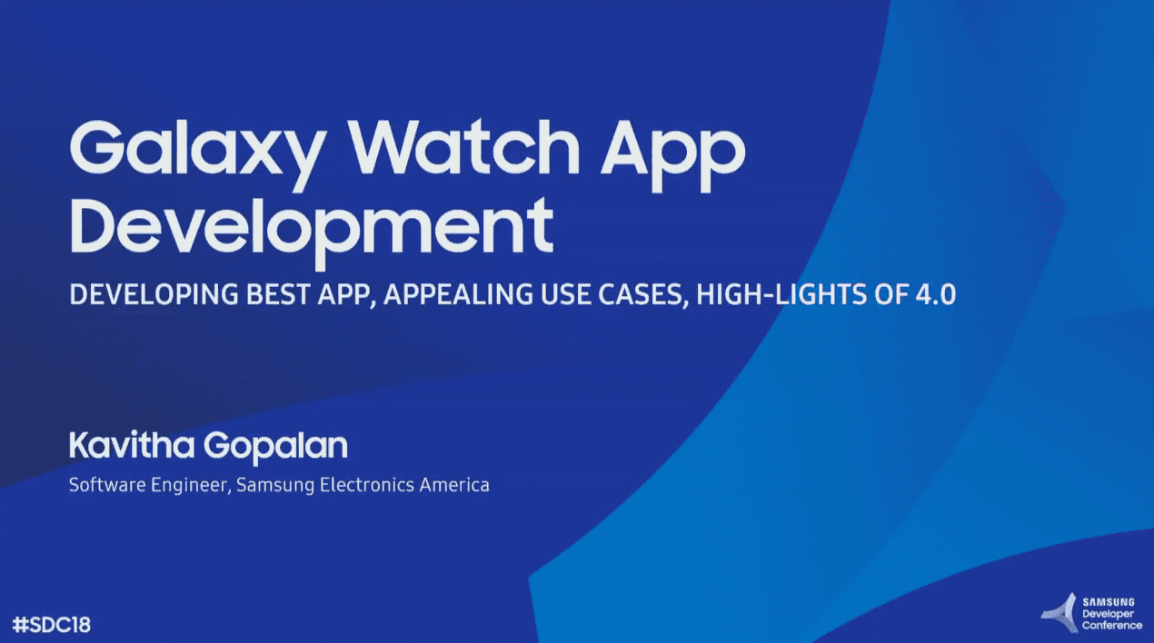 Technical Aspects of Galaxy Watch App Development