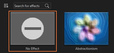 Figure 10 Removing effects