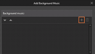 Figure 14 Adding background music