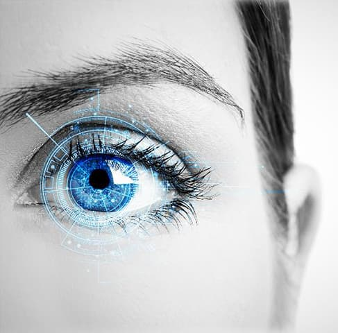 Iris recognition technology provides another convenient, non-invasive method of authenticating a user based on the iris in each eye.