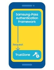 The Samsung Pass Authentication Framework asks Knox to create an asymmetric signing key in the Knox TrustZone.