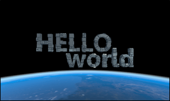 Figure 1 the Hello World 360 App
