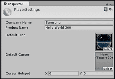 Figure 14 Player Settings