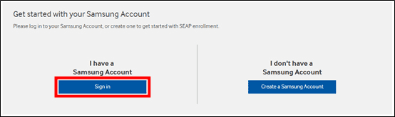 Figure 1 Getting Started with Samsung Account
