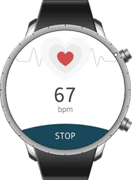 Figure 13 Measuring the heart rate using the application