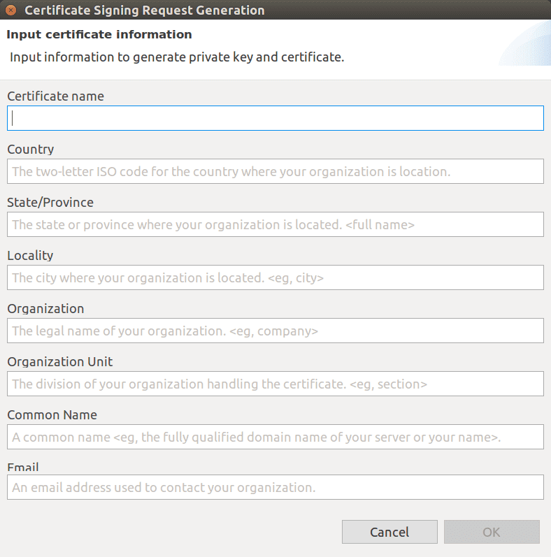 Figure 10 Certificate information window