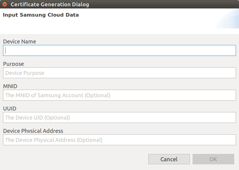 Figure 11 Samsung Cloud Data window