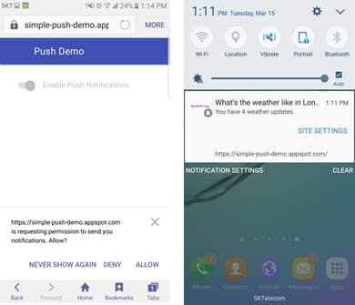 what is samsung push service android
