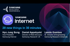 SDC 2017 | Samsung Internet: 20 new things in 30 minutes