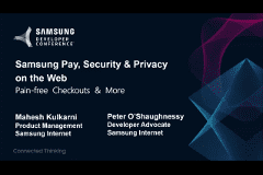 SDC 2017 | Samsung Pay, Security & Privacy on the Web